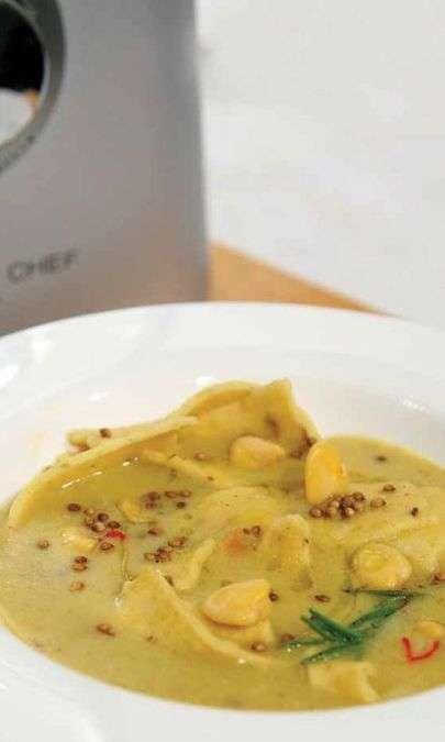 Zuppa di Cicerchie di Campodimele con maltagliati fatti in casa