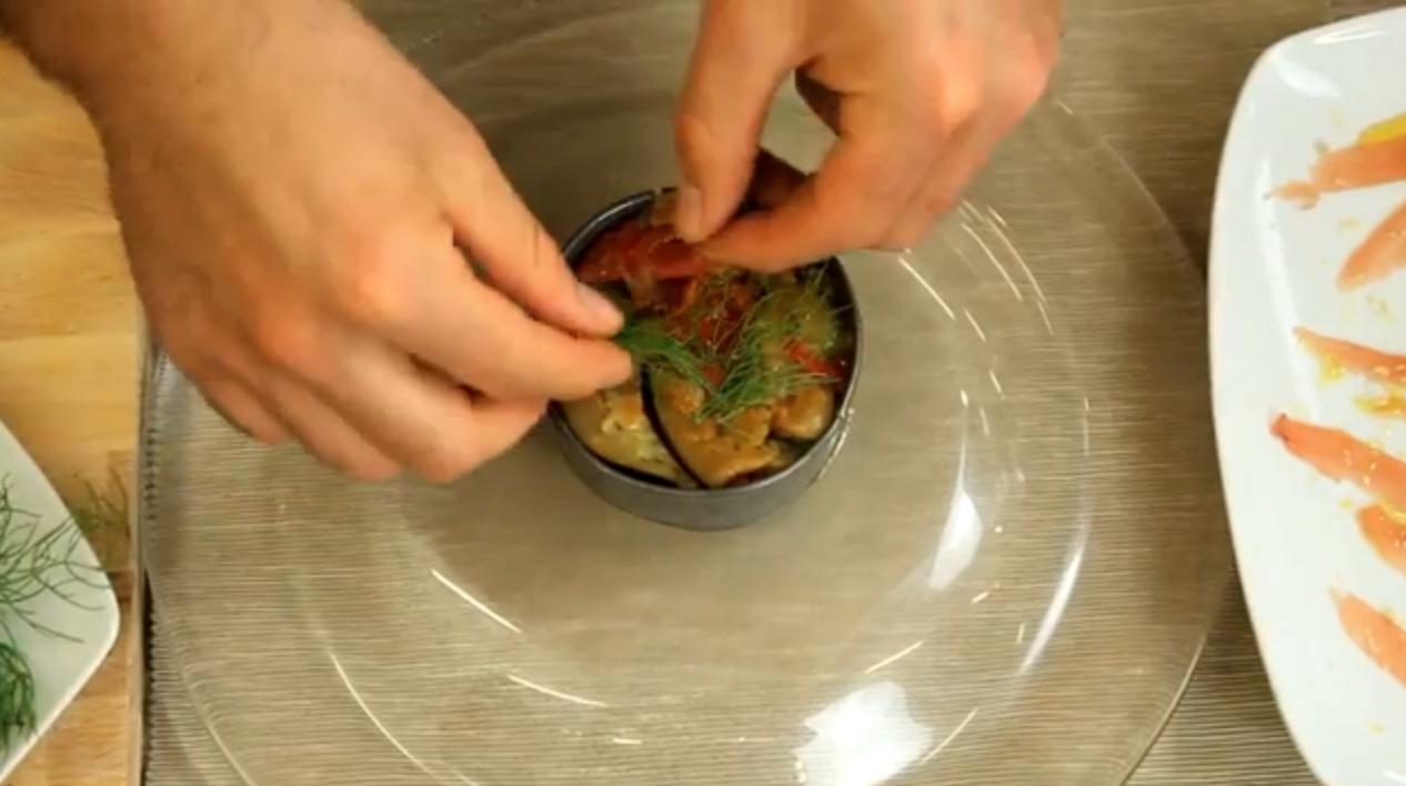 Tonno e caponata di verdure