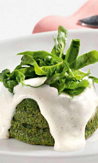 Tortino di spinaci con besciamella di parmigiano