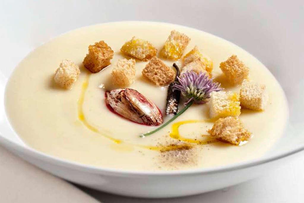 Crema di patate e aglio rosa di Lautrec