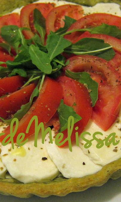 Crostata salata tricolore