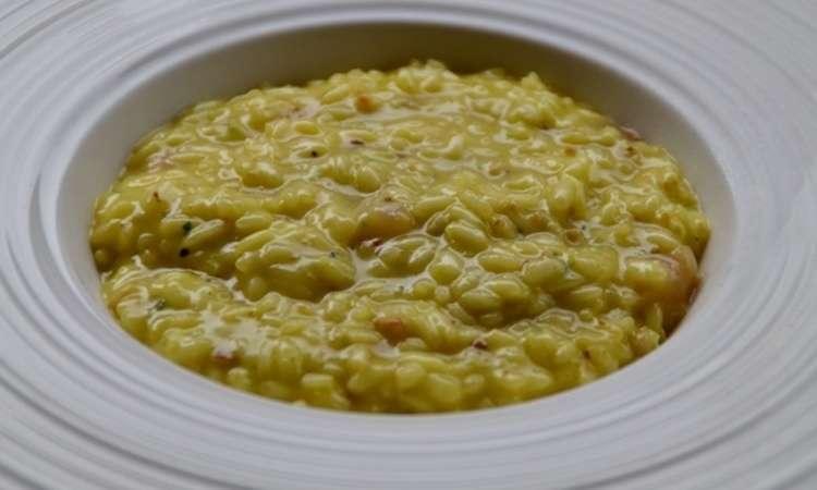 Risotto con pecorino di Vallecupola ,pere e pinoli tostati