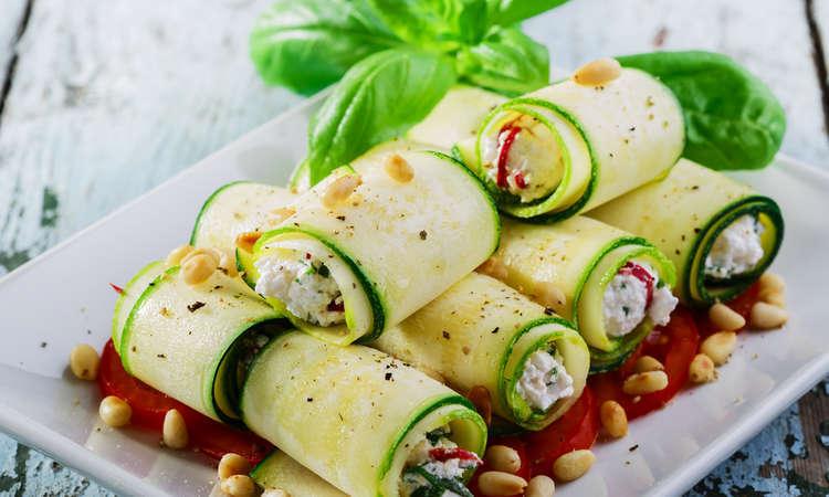 Involtini di zucchine fresche