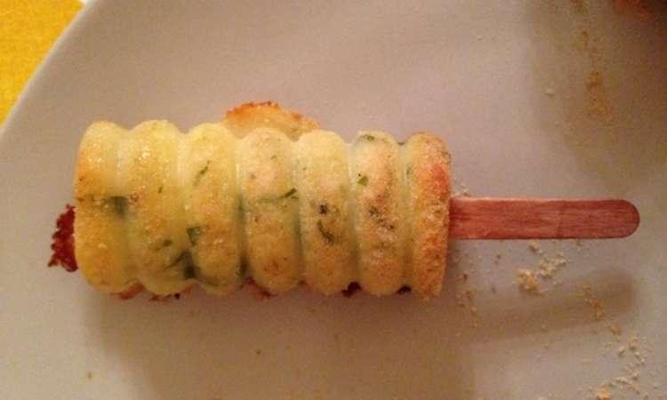 Gattò di patate di Montersino su stecco