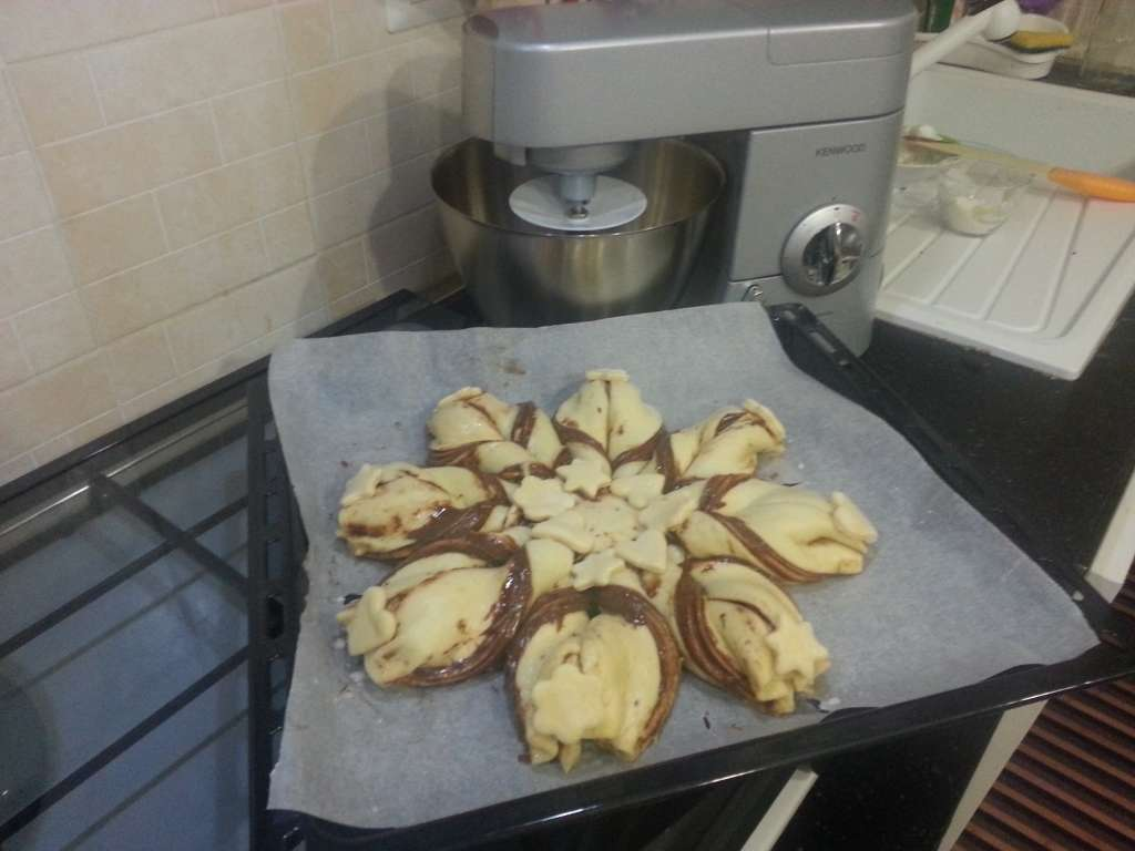 Fiore di pan bioches alla nutella