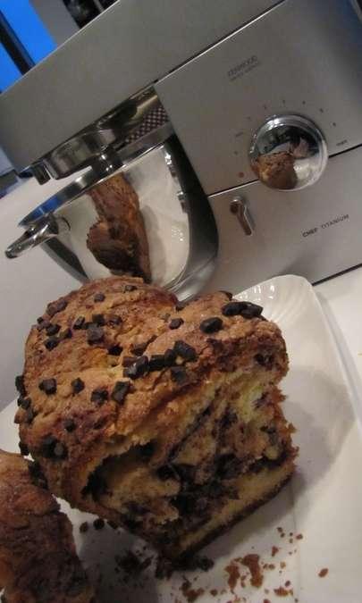 Pane dolce al cioccolato fondente e cannella