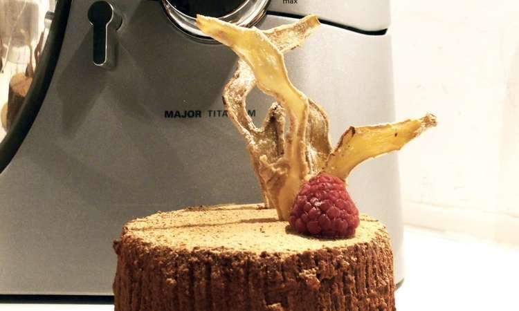 Mousse Fondente con cuore di Crema al Mascarpone e Zenzero e Gelée di Lamponi