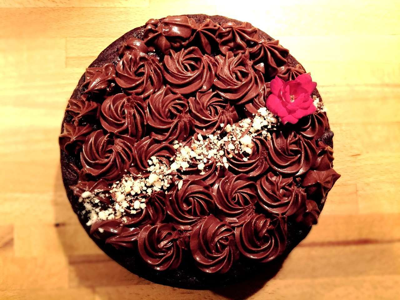 Double chocolate&zucchini cake