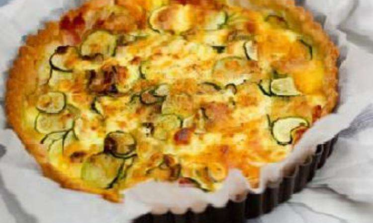 Quiche di zucchine e pancetta