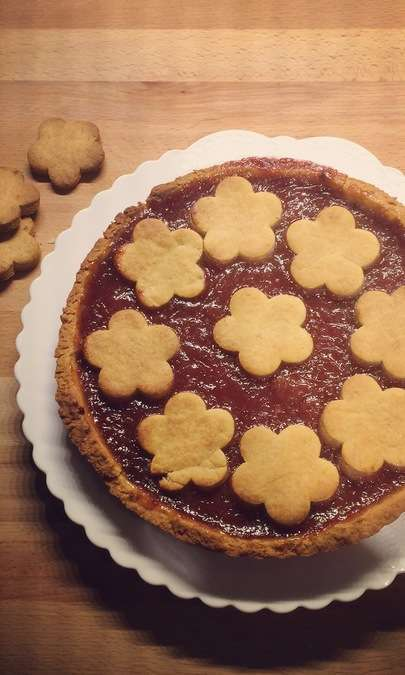 Crostata vegan alle fragole