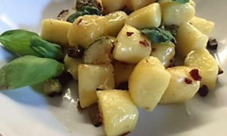 Gnocchi zucchine e speck