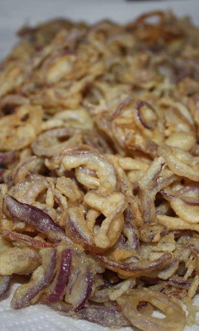 Anelli di cipolla di Tropea fritti
