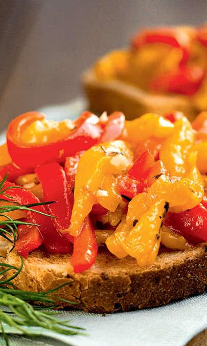 Bruschetta con peperonata