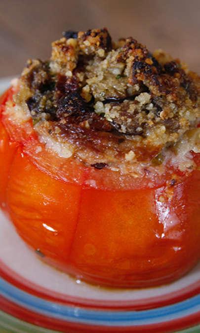 Pomodori ripieni di melanzane