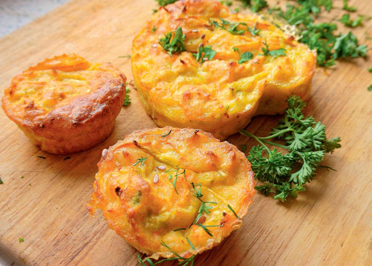 Tortini con carote alla panna