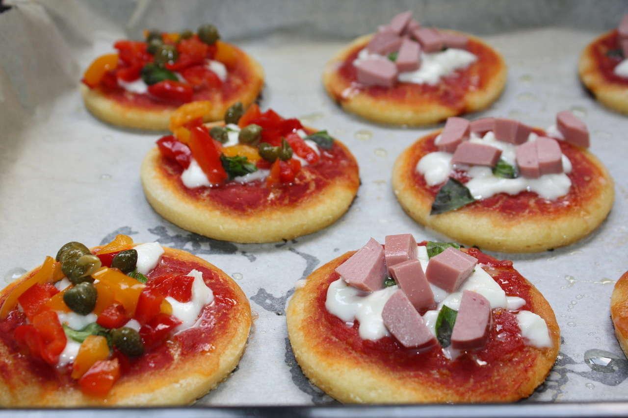 Pizzette sottili senza glutine