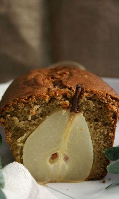 Plumcake alla crema di pistacchi e pere williams