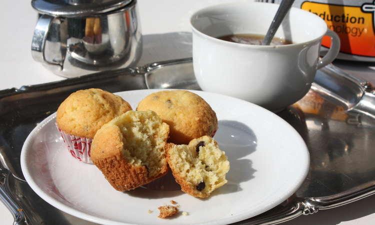 Mini muffin senza glutine e lattosio con gocce di cioccolato