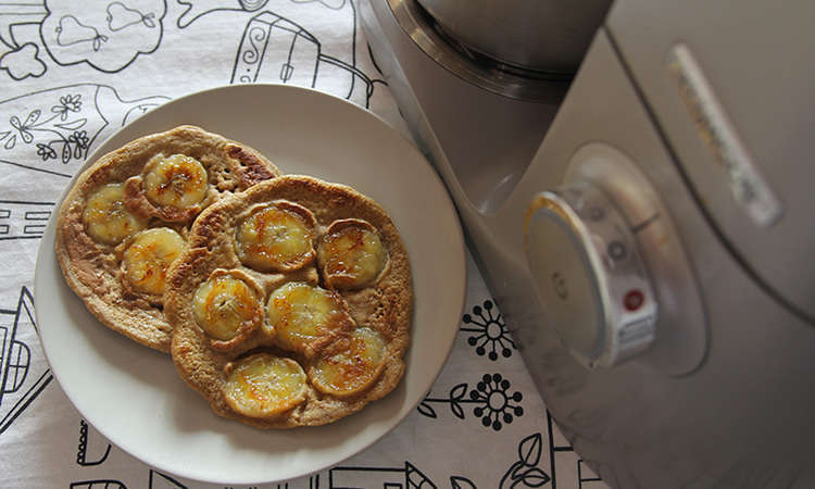 Pancake di avena alla banana