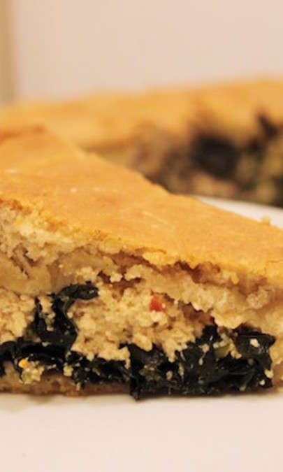 Focaccia ripiena di cavolo nero e tofu