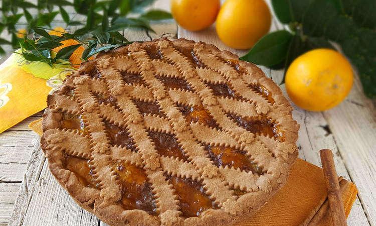 Crostata al cacao e arance