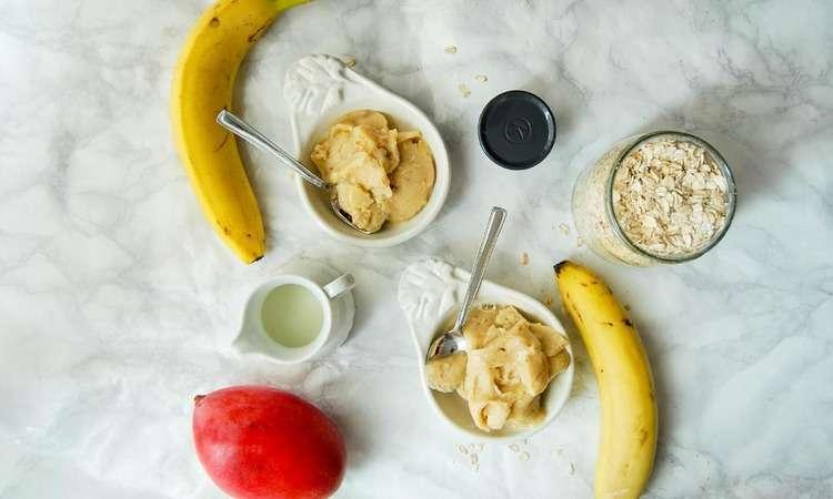 Gelato vegan alla banana e mango
