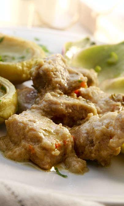 Spezzatino di pollo con verdure