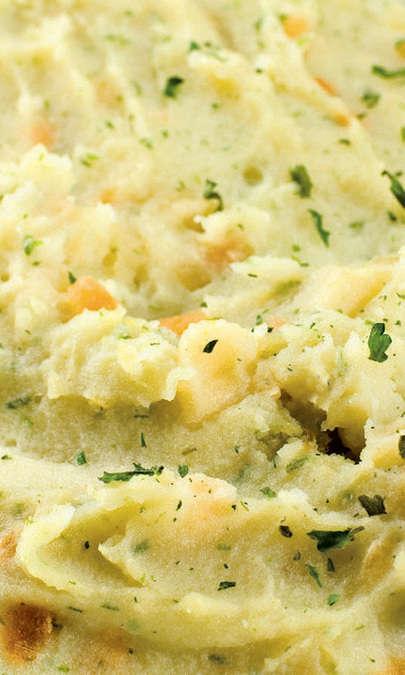 Purè di patate bianche e spinaci