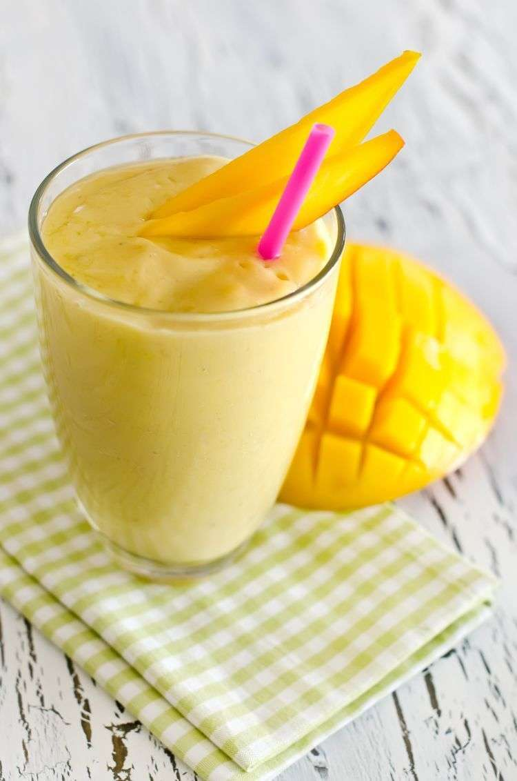 Frappè di gelato al mango