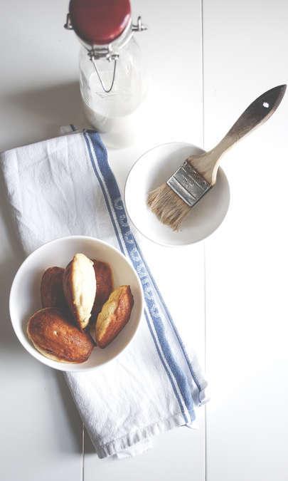 Madeleines basilico e parmigiano