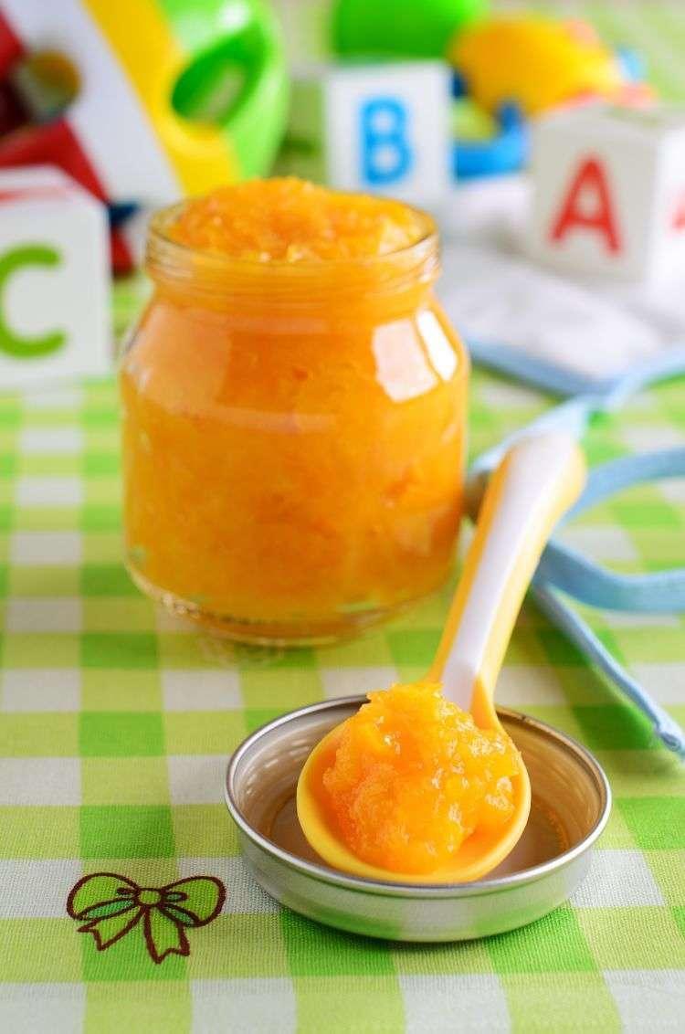 Purea di carote e arancia con pesce (per bambini)