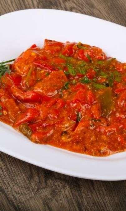 Salsa al peperone rosso piccante