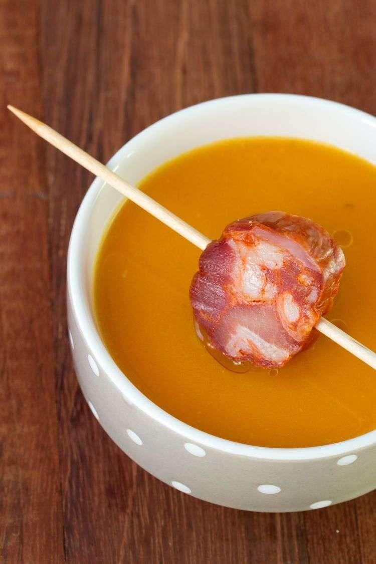 Zuppa di carote e chorizo
