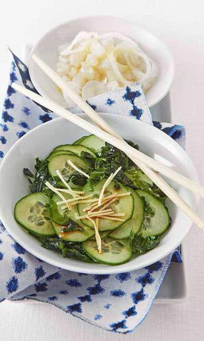 Insalata di wakame e cetriolo