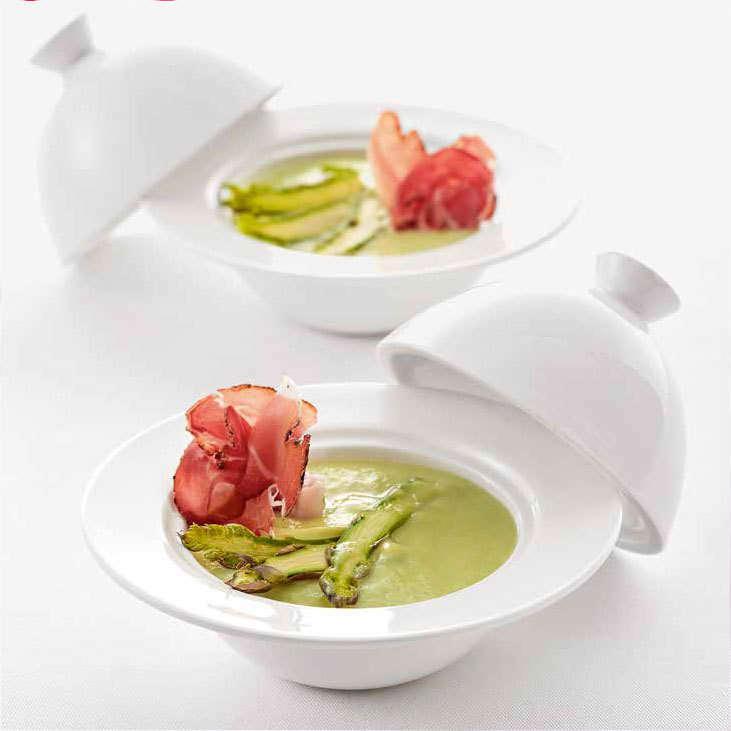 Vellutata di asparagi con Cooking Chef Gourmet