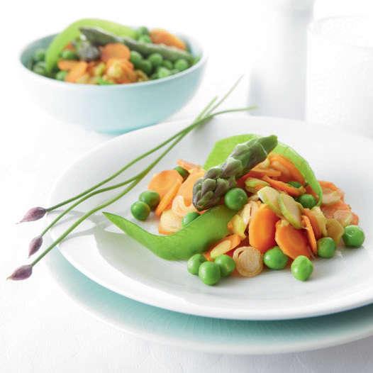 Padellata di verdure primaverili