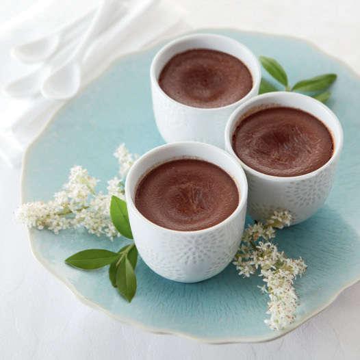 Bicchierini di crema al cioccolato fondente