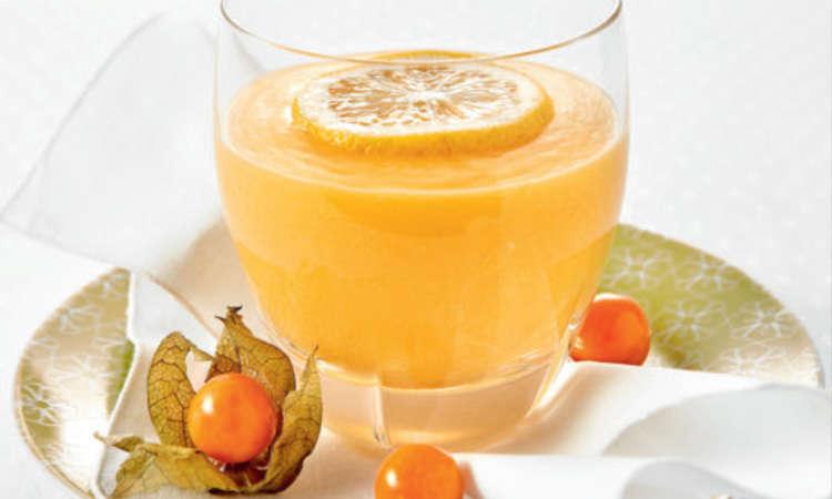 Smoothie mango e arancia
