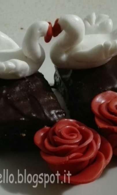 Cuori di brownies