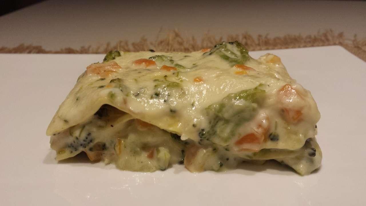 Lasagne con broccoli e carote