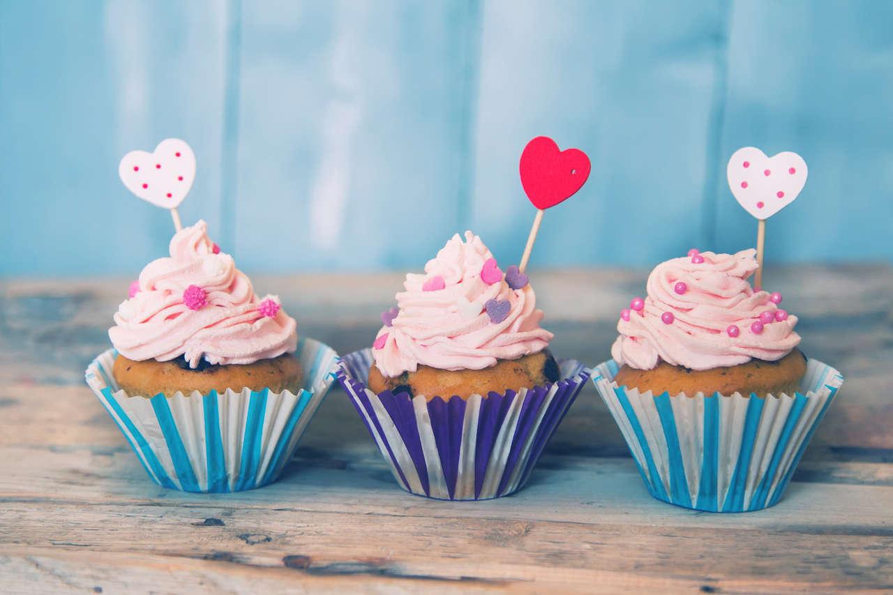 Cup cakes con panna ai lamponi