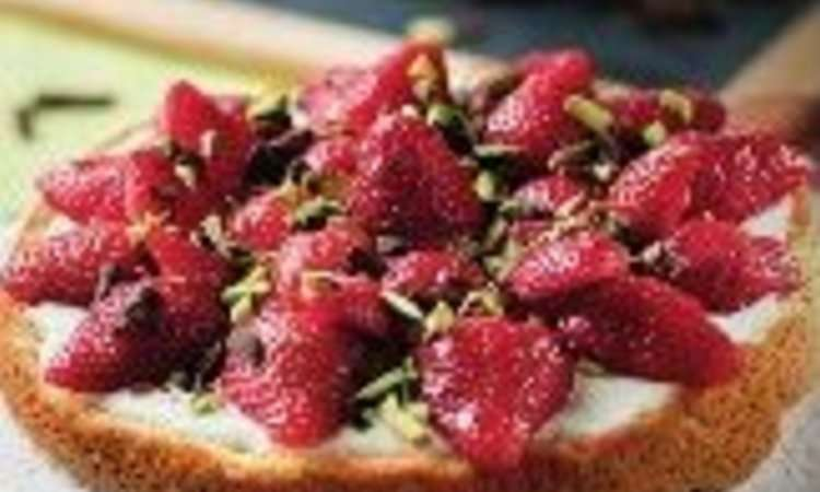 Torta di fragole e yogurt