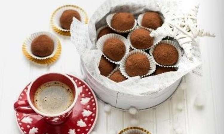 Tartufini di cioccolato al caffè
