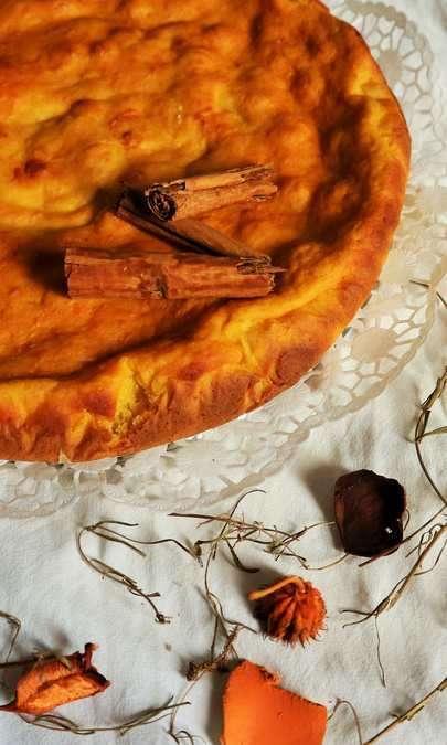 Torta rustica di zucca al profumo di lime