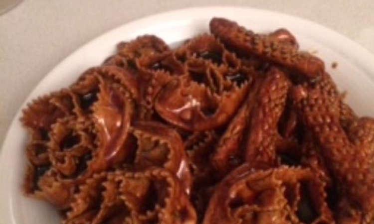 Cartellate al forno con vincotto di fichi