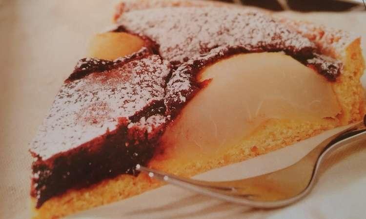 Crostata alle pere e cremoso al cioccolato