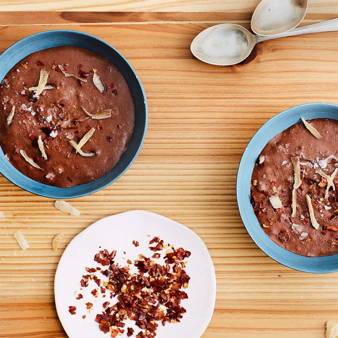 Mousse al cioccolato e zenzero