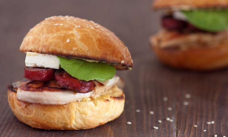 Sandwich con chorizo