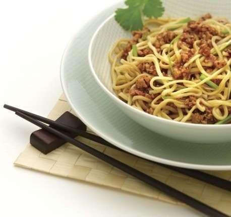 Maiale e spaghettini all'orientale