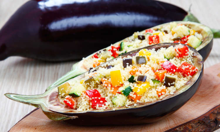 Melanzane ripiene di couscous